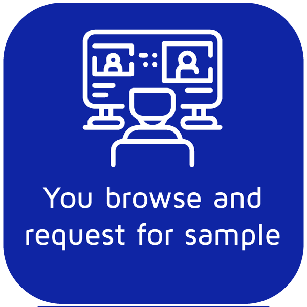 You browse and request for sample - Icon