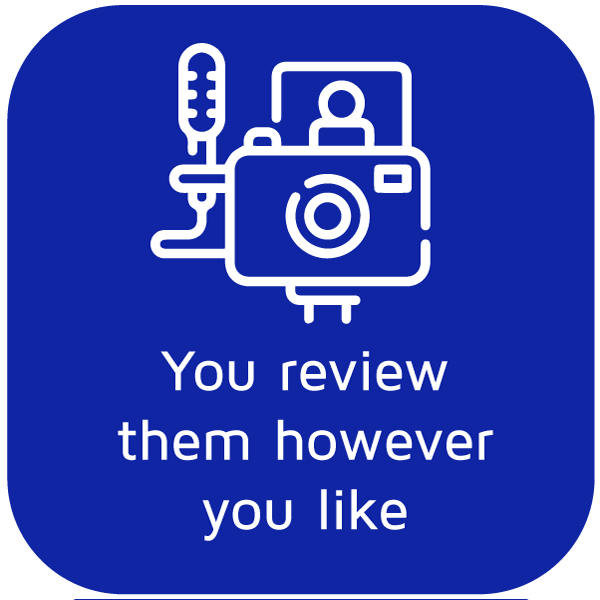 You review the product however you like - Icon